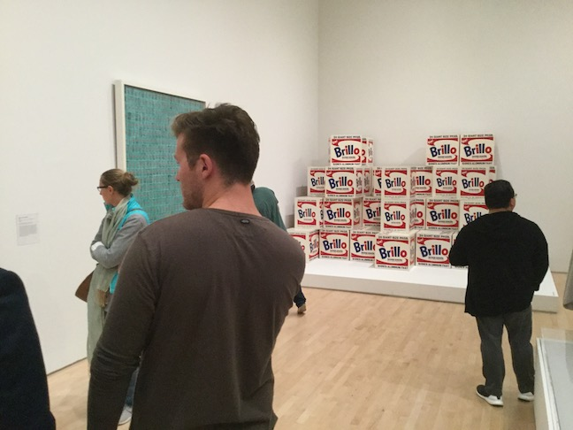 warhol brillo boxes with people