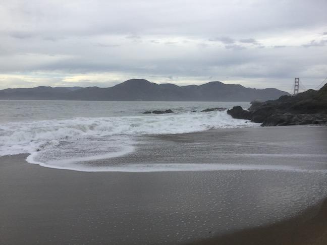 north baker beach swirling tide