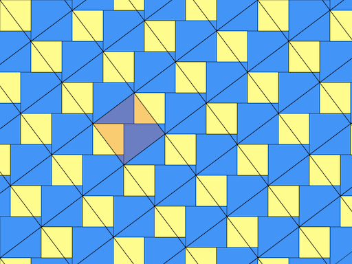 tessellation with black diagonal squares